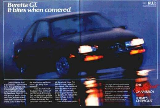 1988 Chevrolet Beretta GT Advertise