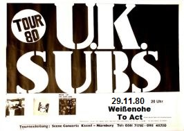 U.K. Subs, Weissennohe, To Act