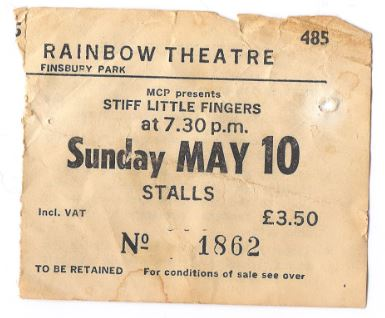 Stiff Little Finger Ticket